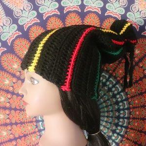 90's Hip Hop Crochet Rasta Beanie
